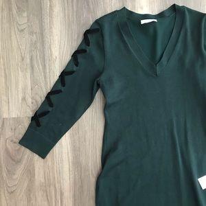 Calvin Klein Forest Green Sweater Dress NWT